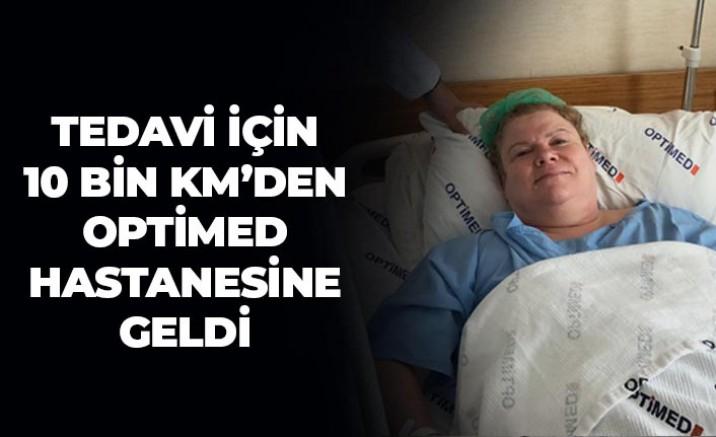 Amerikalı Ingrid, Optimed Hastanesinde sağlığına kavuştu