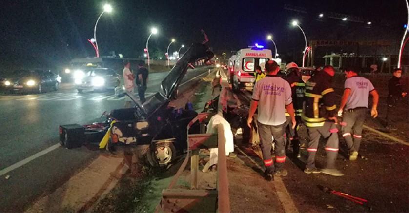 Görenleri dehşete düşüren kaza