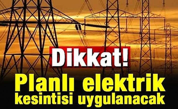 Karaağaç'a 9 saat elektrik verilmeyecek