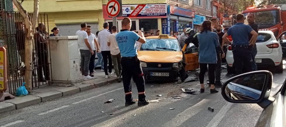 Taksi şoförü yaralandı